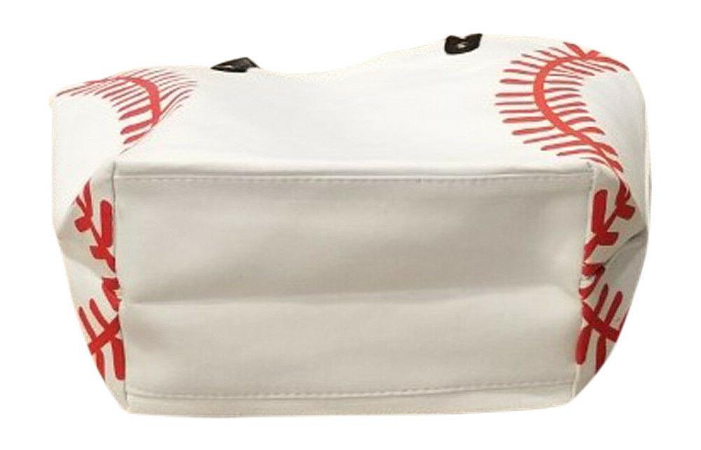 Baseball White w Red