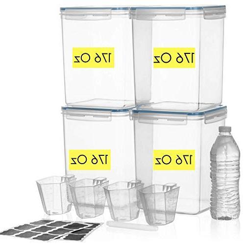 DEEP Food Pantry /176 oz 4 Cup Chalkboard Ideal Baking Plastic