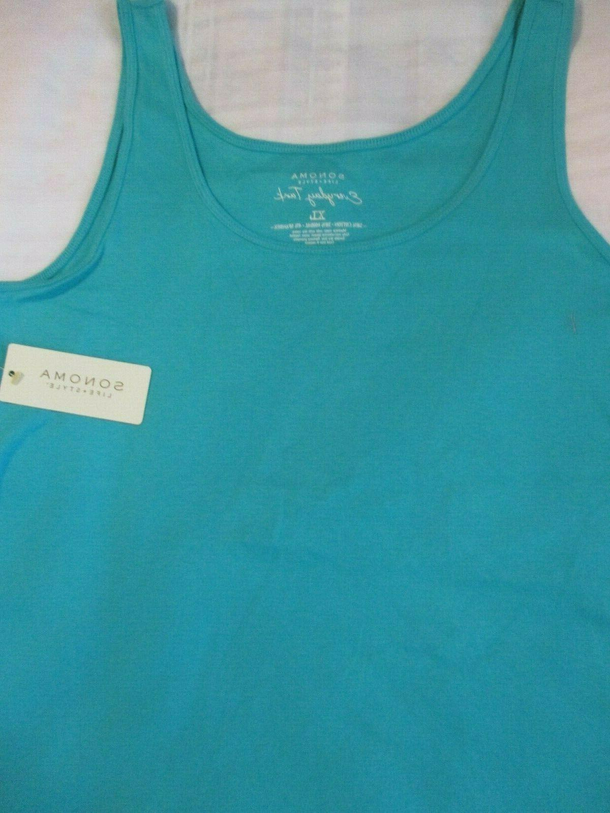 WOMENS SONOMA EXTRA LARGE XL TOP SOLID