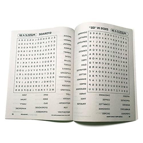 Word Search Bundle Large Print   80 Games Men, Women, Adults, Less Eye Fatigue Strain