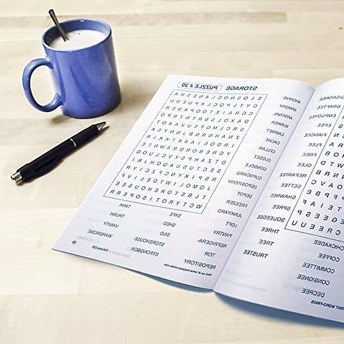 Word Search Puzzle Bundle Easy-to-Read | 80 Games | Men, Women, Seniors Less Strain