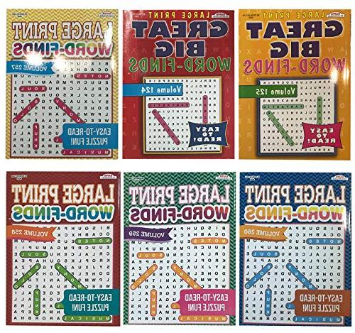 word search puzzle book easy