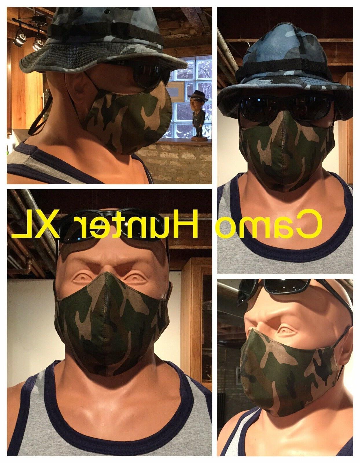 XXL Extra Big Size Knit Cotton Mask Filter Pocket Men
