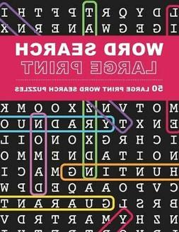 Large Print Word Search Puzzles: 50 Extra-Large Print Word S