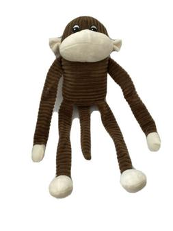 ZippyPaws Large Spencer the Crinkle Monkey Brown- Squeaky Pl