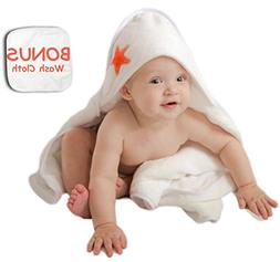 Luxurious Baby Hooded Towel + Bonus Wash Cloth by Mer-Baby |