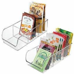 mDesign Plastic Food Packet Kitchen Storage Organizer Bin Ca