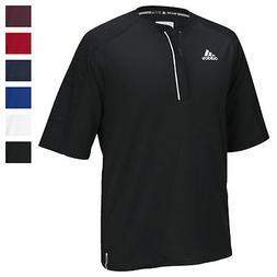 adidas Men's CLIMALITE Modern Varsity Short Sleeve 1/4 Zip A