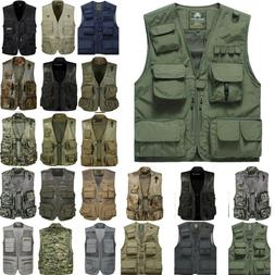 MEN Travel Photographers Touring Vest Fishing Gaming Camping