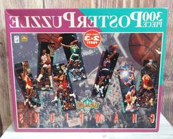 NBA Poster Puzzle 2' x 3' Slam Dunk Champions 300 Piece Extr