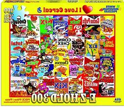 """New 300 Piece Puzzle """"I Love Cereal"""" XL Pieces 18""""x24"""" White"""