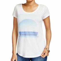 NEW LUCKY BRAND Cream Ocean Beach Sea Short Sleeve Graphic T