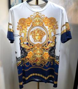 New Versace Men's Women's Medusa Avatar Short Sleeve T-shirt
