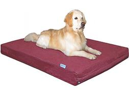 Dogbed4less XXL Large Orthopedic Gel Memory Foam Dog Bed wit