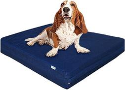 Dogbed4less Large Orthopedic Gel Memory Foam Dog Bed, Durabl