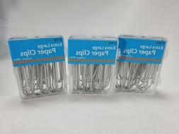 Paper Clips Extra Large Silver 60 count. 3 boxes Of 20  Coun