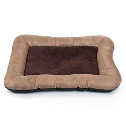PAW Plush Cozy Pet Crate Dog Pet Bed - Tan - Extra Large