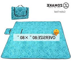 ZOMAKE Picnic Blanket Waterproof Extra Large, Outdoor Blanke