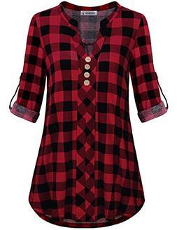 MOQIVGI Red Plaid Shirt Women,Prime Wardrobe Womens Clothing