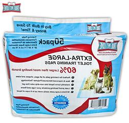 50 Extra Large Pet Training Wee Pads - Housebreaking Potty P