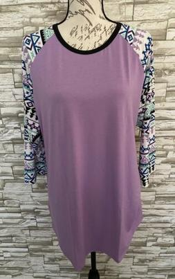 Lularoe Randy T Shirt Top Nwt XL Extra Large Beautiful Purpl