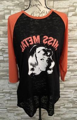 Lularoe Randy T Shirt Top Nwt XL Extra Large Miss Metal Rock