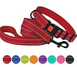 Reflective Dog Collar Leash Set Pet Puppy Dog Collars for Sm
