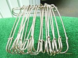 "12 pieces 3"" Extra Large Safety Pins Sewing Shop Hobbies Dis"