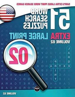 Sam's Extra Large-Print Word Search Games: 51 W, Mark, Sam,,