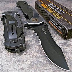 "Tac-force Extra Large Grey 10.5"" Folding Blade Spring Assist"