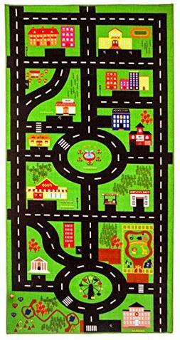 City theme Kids Play Rug - Play Mat - Area rug - Carpet -Ext