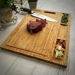 HHXRISE Venfon Large Organic Bamboo Cutting Board For Kitche