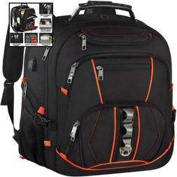 "Travel Laptop Backpack Extra LARGE 18.4"" Gaming Backpacks W"