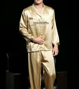 True USA Sizes M L XL 2XL 3XL Men Satin Silk Pajama Set FREE