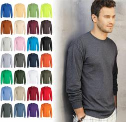 ultra cotton mens crewneck long sleeve t