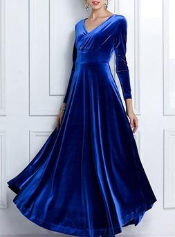 velvet evening long dress delivery in about