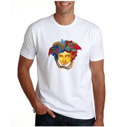 Versace2020  medusa logo T-shirt White DTG Printed Unisex