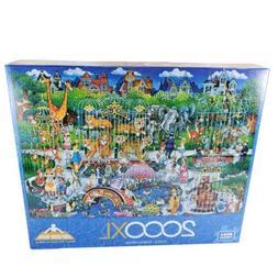 Mega Puzzles Victorian Zoo 2000 Pieces 26.75 x 39 Extra Larg