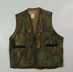 VTG Winchester Men XL Vest Hunting Camouflage Full Zip Game