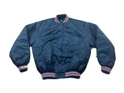 Vtg Game Sportswear Varsity Jacket Black White Red Vintage R