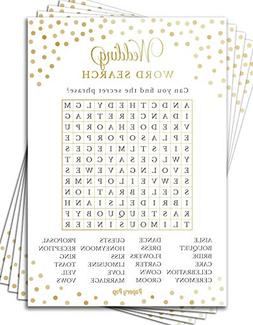 wedding word search game cards 50 pack