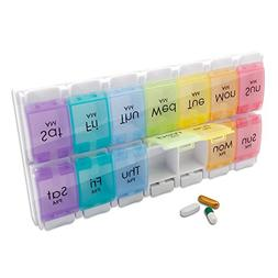Weekly Pill Organizer, Twice-a-Day, Extra Large  Am/Pm Pill