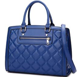 women extra large quilted leather satchel handbag