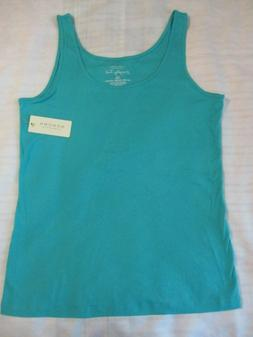 WOMENS SONOMA EXTRA LARGE XL EVERYDAY TANK TOP SOLID TURQUOI