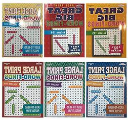 Word Search Puzzle Book Bundle  Easy-to-Read Large Print | 8