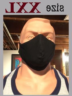 XXL XL Extra Large Big Size Premium Knit Cotton Face Mask Fi